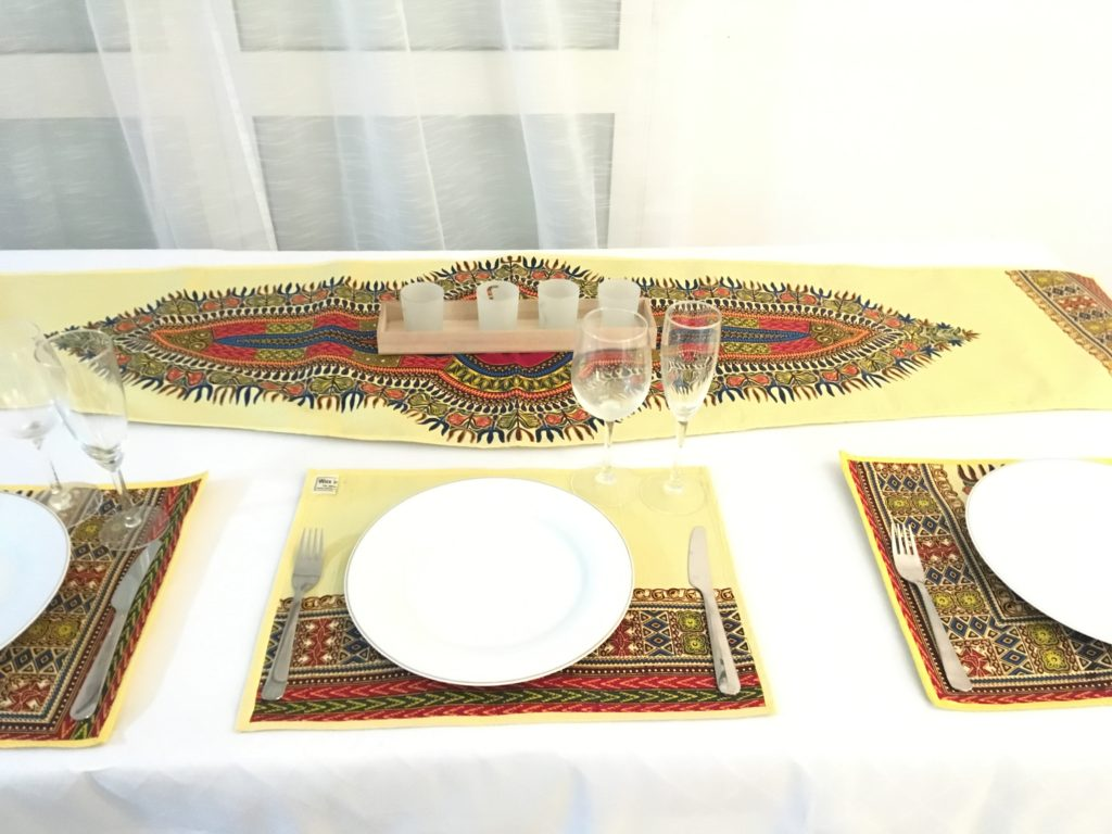 waxindeco linge de table addis jaune