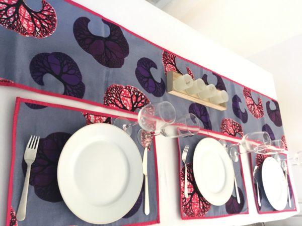 waxindeco linge de table croissant rose