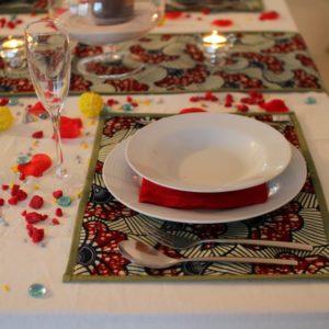 parure de table fleurs de mariage