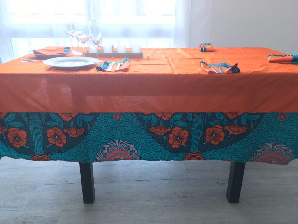 waxindeco linge de table jardin fleuri